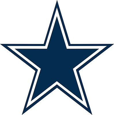 Dallas Cowboy Star Vinyl Decal for Cell phone or laptop set of 4 stickers