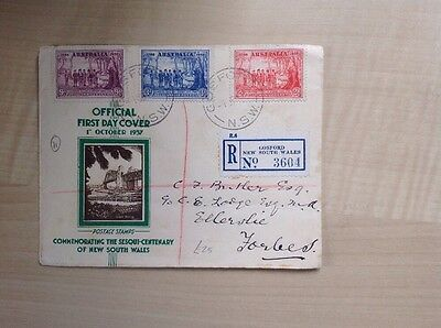 Australia Stamps New South Wales First Day Cover 1937