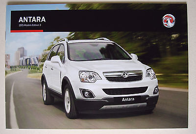 Vauxhall . Antara . 2015 Models Edition 3 . Sales Brochure
