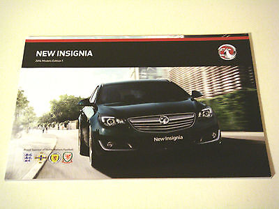 Vauxhall . Insignia . 2014 Models  Edition 1. Sales Brochure