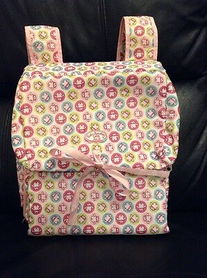 Baby Annabell Pink Travel Booster Seat Out And About Bag Fold Up + Carry Handles
