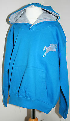 Hoodie with embroidered horse & rider-  Age 3-4 -other ages & colours available