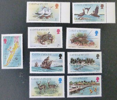 1984 Cayes of Belize Stamp Set MNH 'First Definiteves' No WM-812.