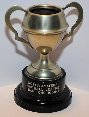 Notts. Amateur Football League Champions 1952-3 Small Metal Cup/trophy