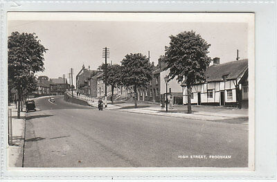 High Street Frodsham (Demolished Cottages On Right) c1940's Real Photograph