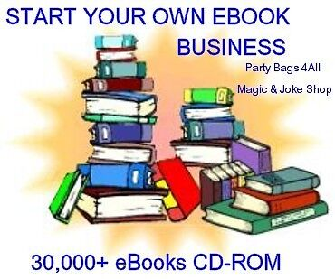 START YOUR OWN E-BUSINESS 30,000+ E-Books PC CD-R **