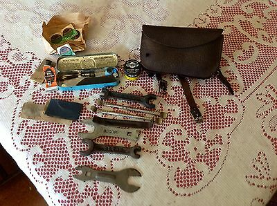 Vintage Cycling Pouch, John Bull Tin/ Dunlop Tin with Contents & Tools