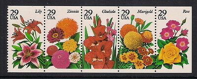 USA US mint stamps - 1994 Garden Flowers Booklet Pane, SG2896/2900, MNH