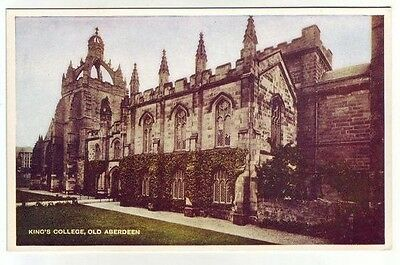 Kings College Old Aberdeen c1930's Davidson's D&SK Ideal Series Old Postcard