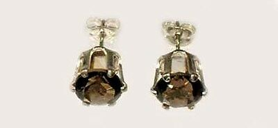 19thC Antique 1ct Scotland Cairngorm Smoky Quartz Medieval China Court Sunglass