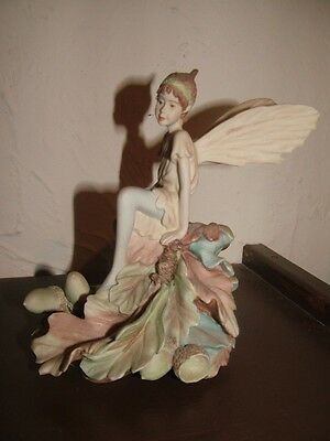 Danbury Mint Acorn Flower Fairy Ornament/Figurine