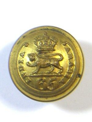 65th (2nd Yorkshire, N.Riding) Foot original Victorian Officers Medium Button.