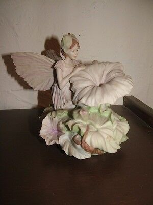 Danbury Mint White Bindweed Flower Fairy Ornament/Figurine