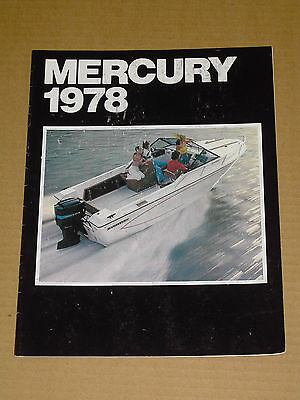 1978 Mercury Boats Outboard Motor Brochure Catalog 16 Pages Nice!