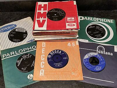 """JOB LOT OF 7"""" SINGLES FROM 1960s (50) MANY POPULAR ARTISTS FROM THE ERA INCLUDED"""