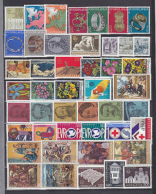 Lot Yugoslavia Jugoslawien 1975 MNH** year nice stamps briefmarken