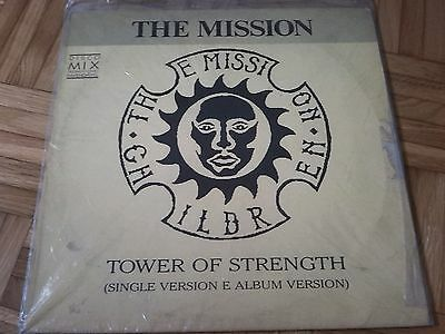 "THE MISSION Tower Of Strength 12"" EP PROMO VINYL BRAZIL ORIGINAL VG/EX+"