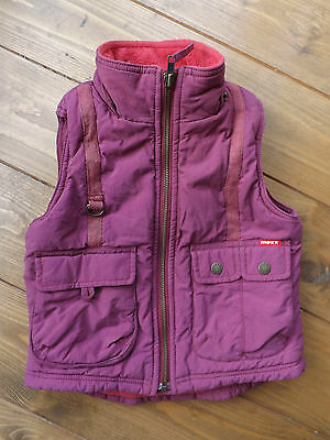 Mexx deep pink bodywarmer gilet in age 5-6 years