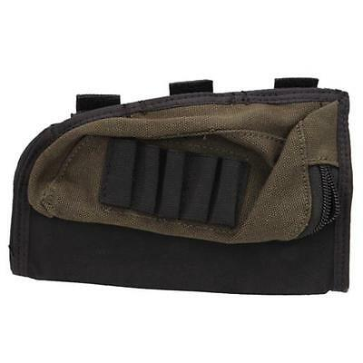 Allen Cases 20550 Black/Green Buttstock Shell Holder with Pouch (Holds 5 Shells)