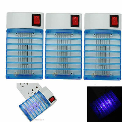 LED Electric Mosquito control Fly Bug Insect Trap Night Lamp Killer light PI3
