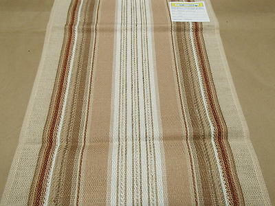 "Swedish Cotton Table Runner  Nordic Tan White & Beige 13"" x 36"" Woven in Sweden"