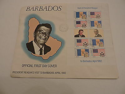 4 first day covers, Barbados, 1979-1991