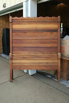Old Antique Solid Wood 3 Piece Furniture Bedroom Set 1 Bed 2 Dressers 1 Mirror