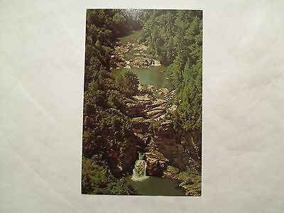 Aerial of Linville Falls North Carolina NC Postcard