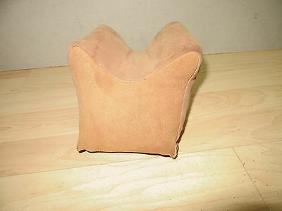 Nice used Leather suede SanAngelo Rifle rest  bag