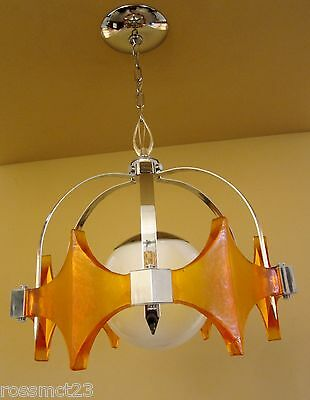 Vintage Lighting 1970s Mod chrome chandelier  Coolest Light Ever
