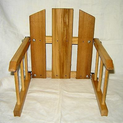Vintage Wooden Child Seat for Runner Sled New Old Stock