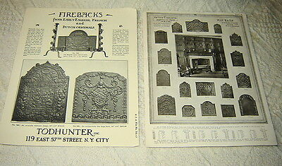 Original 1920's Todhunter Firebacks & Fire Screens Advertising Brochure