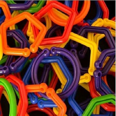 12 LARGE GEOMETRIC LINKS- Parrot Bird Toy Parts
