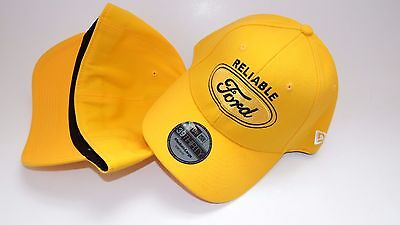 New Hat Cap New Era Size Stretch S/m Up To 7 1/8 Reliable Ford Yellow Black