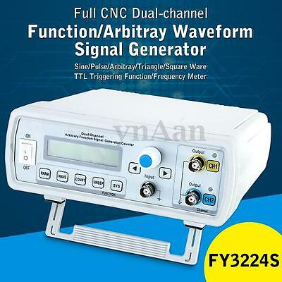 1Pc FY3224S 24MHz Dual-channel Arbitrary Waveform Function DDS Signal Generator
