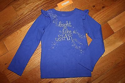 NWT Gymboree Lavender Bunny Size 4T Purple Bright Like a Star Shirt Top