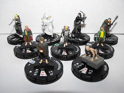 Heroclix Lord Of The Rings Fellowship Lot With Rare Gandalf The White