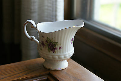 Old Vintage Queens Fine Bone China Made England Rosina China Co. Violets Creamer