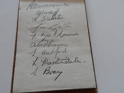 Vintage Football Autographs Burnley 1940S  Page From Autographbook