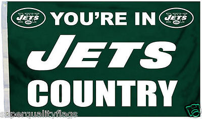 YOURE IN NEW YORK JETS COUNTRY FLAG NEW 3x5 ft au