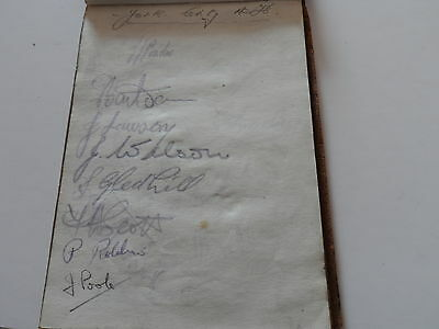 Vintage Football Autographs York City / Alf.young 1940S  Page From Autographbook