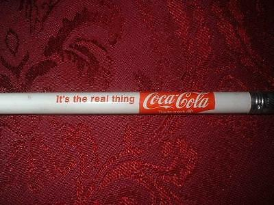 Vintage Coca-Cola It's The Real Thing Coke Soda Advertising Wood Pencil ~ Unused