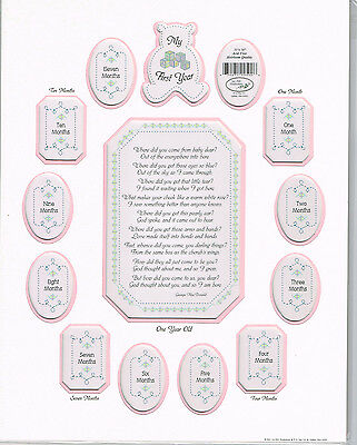 Baby Girl - MY FIRST YEAR 11x14 Photo Collage Mat PINK Watch me Grow!