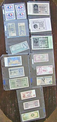 Lot Of Old Foreign Bank Notes Paper Money