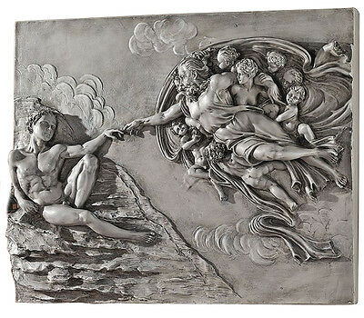 Creation of Adam Wall Sculpture by Michelangelo at Sistine Chapel Vatican