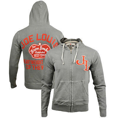 Roots of Fight Joe Louis Full Zip French Terry Hoodie - Gray
