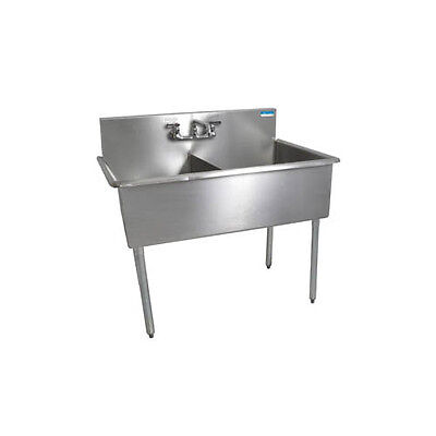 """Bk Resources 51""""x27-1/2"""" Two Compartment Stainless Steel Budget Sink - Bk8Bs-2-2"""