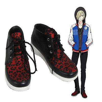 Yuri!!! on Ice Plisetsky Yuri Cosplay Shoes Leopard Print Lace up Sneakers