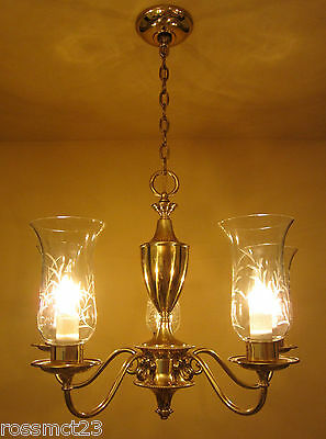 Vintage Lighting mid century 1950s chandelier by Framburg