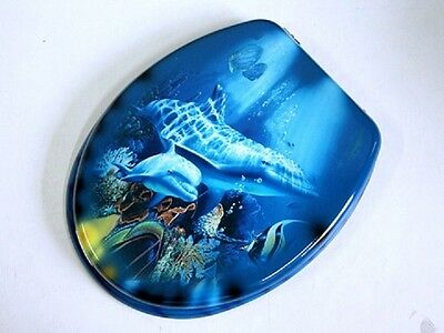 1X Ocean Twin Dolphin Toilet Seat & Cover